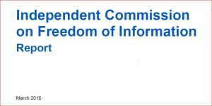 FOI Commission front cover