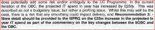 MPRG is the Major Projects Review Group, part of the Cabinet Office. OBC is the Outline Business Case for Universal Credit. SOBC is the Strategic Outline Business Case.