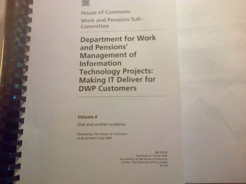 Work and Pensions Committee front cover